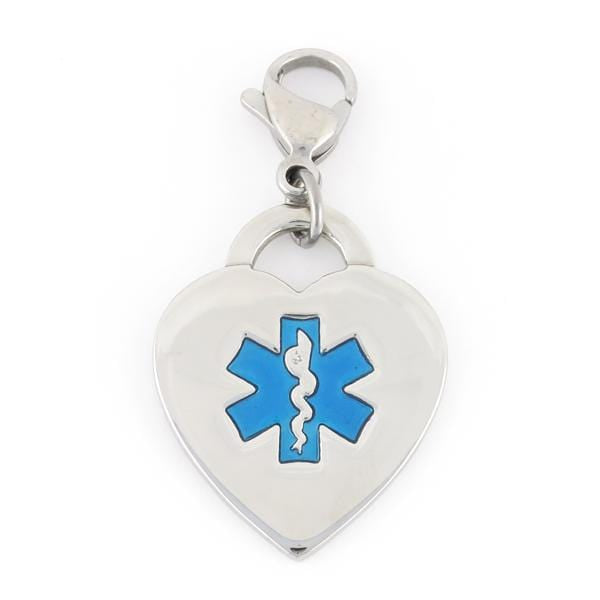 Royal Heart Medical Charms w/ Lobster Clasp - n-styleid.com