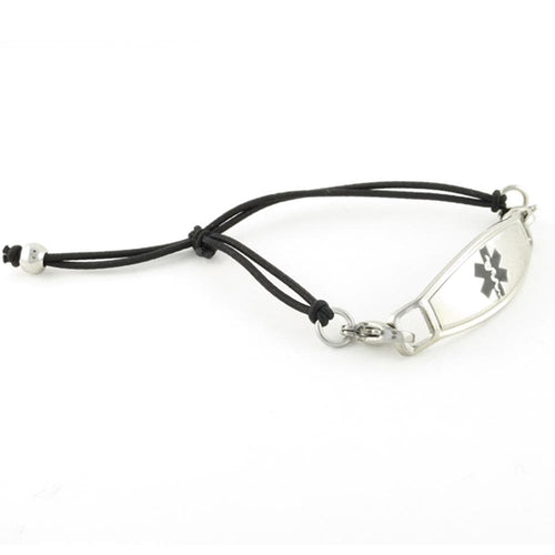 Simplicity Black Stretch Medical Bracelet