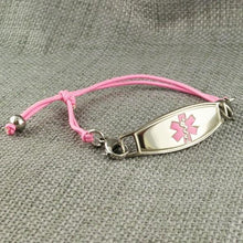 Simplicity Pink Stretch Medical Alert Bracelet - n-styleid.com