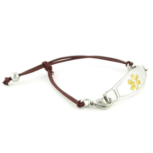 Simplicity Mocha Stretch Medical Bracelet - n-styleid.com
