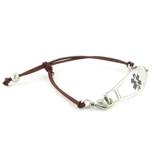 Simplicity Mocha Stretch Medical Bracelet