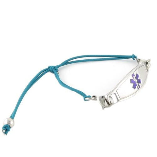 Simplicity Turquoise Stretch Medical Bracelets - n-styleid.com
