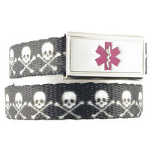Skull and Crossbones Kids Medical Bracelet - n-styleid.com