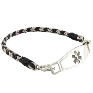 Smoke Braided Medical ID Bracelet - n-styleid.com
