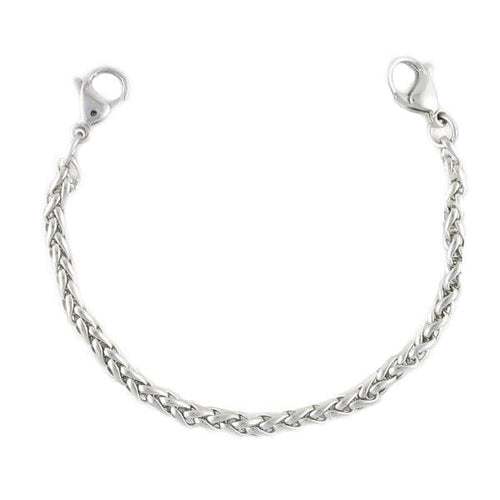 Steel Wheat Bracelet Without Medical ID Tag