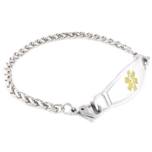 Diabetic Women's Bracelet Steel Wheat - n-styleid.com