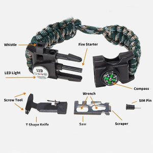 Night Stalker Paracord Survival ID Bracelet - n-styleid.com