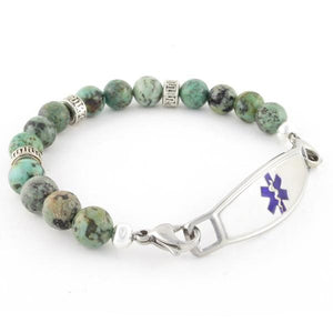 Tara Beaded Medical ID Bracelet - n-styleid.com