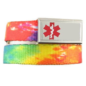 Tie Dye Medical Bracelets F/E - n-styleid.com