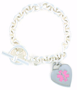 Tiff Sterling Silver Medical Charm Bracelet - n-styleid.com