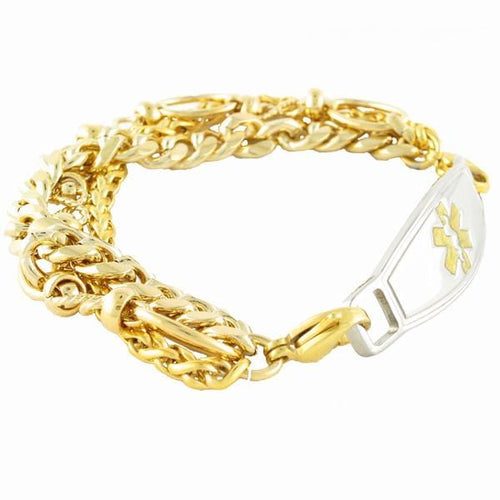 Triple Gold Plated Medical Bracelets