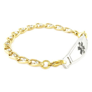Valois Gold Medical Bracelets-FREE Engraving! - n-styleid.com