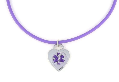 Violet Rubber Medical Necklace - n-styleid.com