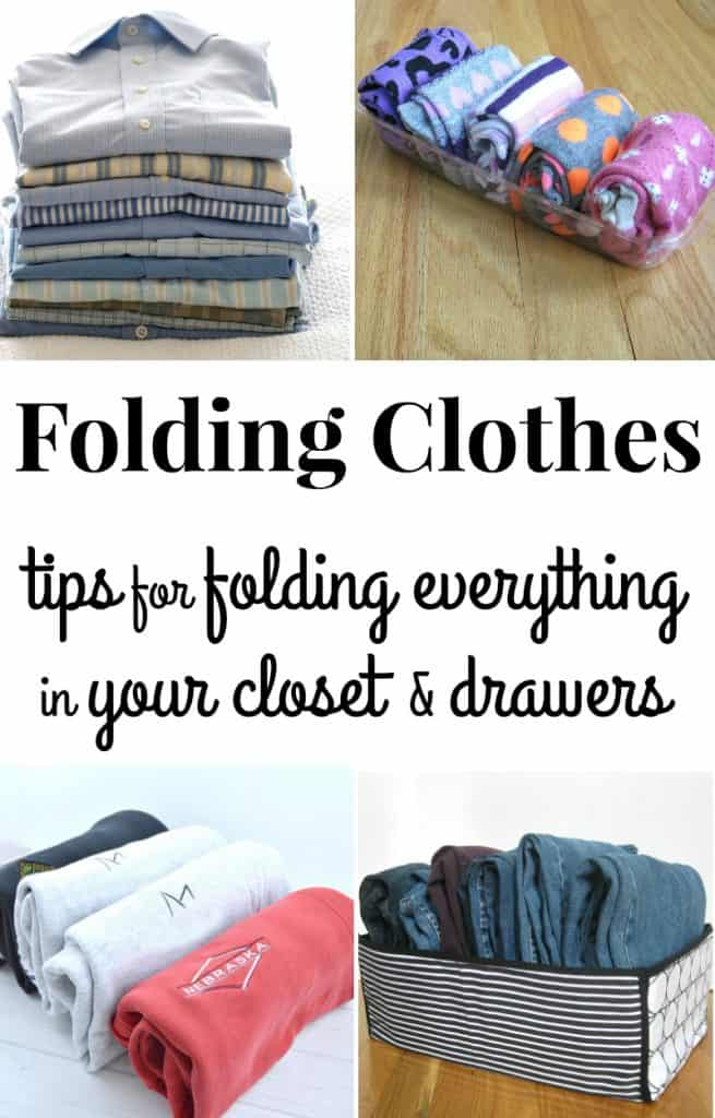 Knowing the different steps to folding clothes neatly makes keeping clothes wrinkle-free easy