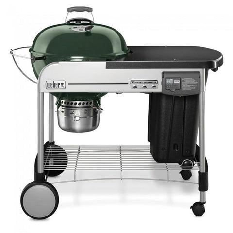 "22"" Performer Deluxe Charcoal Grill-GREEN"