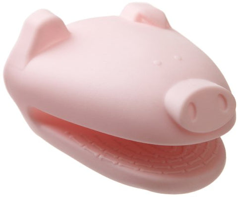 Cooks Corner Silicone Pot Holder, Pink Pig