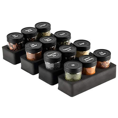 AllSpice InDrawer Spice Storage System (12 Hole with Jars)