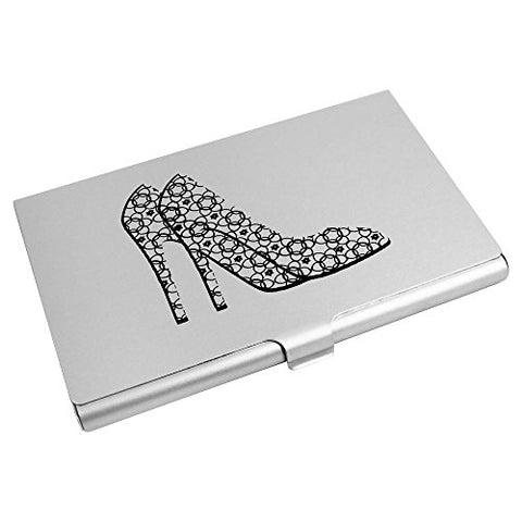 Azeeda 'Patterned High Heel Shoes' Business Card Holder / Credit Card Wallet (CH00007195)