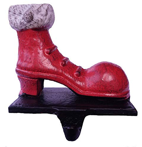 "Lulu Decor, 100% Cast Iron Santa Shoes Stocking Holder, Cute Small Stocking Hook, Measures 4.5"" x 5"" (Santa Shoes)"