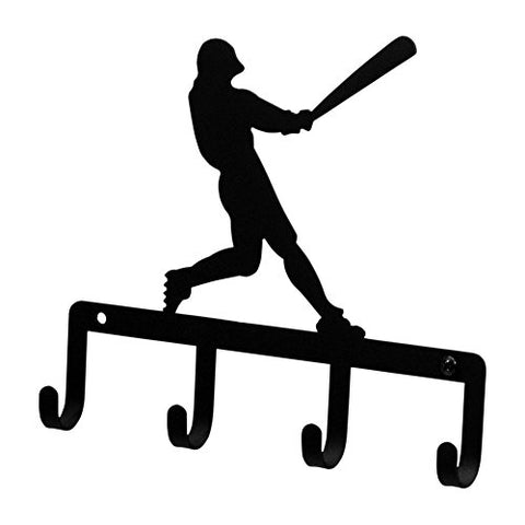 Iron Baseball Player Sports Key Rack - Jewelry Holder - Pet Leash Hanger - Heavy Duty Metal Keychain Car Key Holder, Key Hooks, Key Hanger, Key Organizers