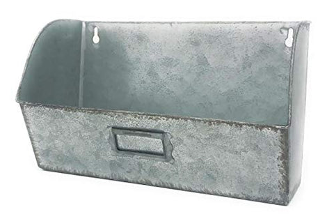 MtnGift Farmhouse Decor Galvanized Metal Decorative Planter Wall Hanging Mail Organizer