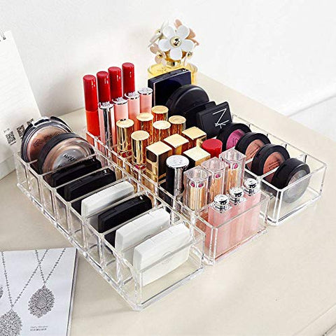 Acrylic Brush Lipstick Holder Makeup Socks Organizer Cosmetic Stand Storage Case