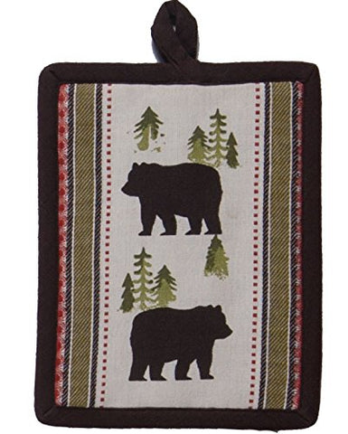 Kay Dee Designs Simple Living Bear Printed Woven Potholder