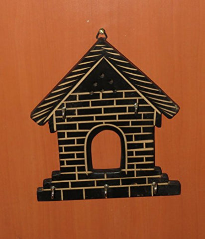 Affaires Wooden Key Holder House Shape Design,Decorative Key Holder,Wall Hanging Hooks,Thanks Giving W-40178