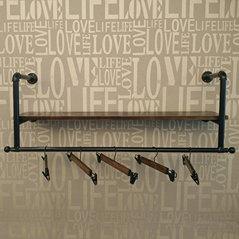 CiiBing Solid Wood Coat Rack, Clothing Store Men's Clothing Store Coat Rack Retro Creative Coat Rack Decoration Coat Rack Length 80-100CM hat Shelves (Size : 25100CM)