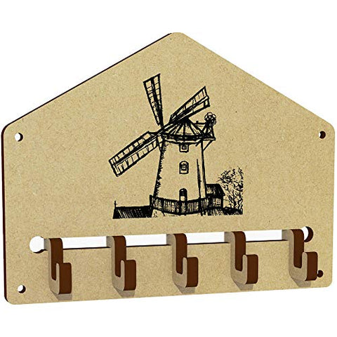 Azeeda 'Windmill Scene' Wall Mounted Key Hooks / Holder (WH00024115)