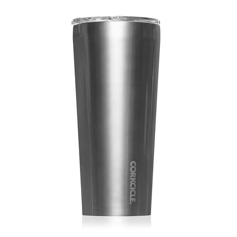 Corkcicle Tumbler - Classic Collection - Triple Insulated Stainless Steel Travel Mug, Gunmetal, 24 oz