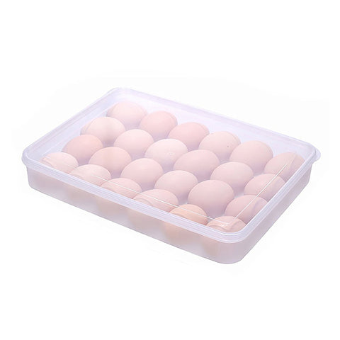 Covered Egg Tray Holder Kitchen Egg Tray, Clear Egg Storage Container Kitchen with Lid for Refrigerator Portable Egg Case Storage Bin for Fridge Camping, 15/24 Eggs Box Carrier Egg Container