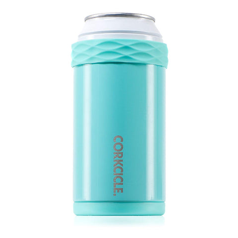 Corkcicle Arctican - Stainless Steel Insulated Can & Bottle Holder, Gloss Turquoise