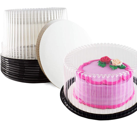 Cake Display containers (10 Inch Cake Container, Set of 10)