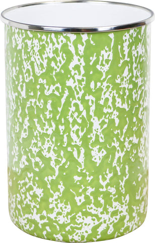 Calypso Basics by Reston Lloyd Marble Enamel on Steel Utensil Holder, Lime
