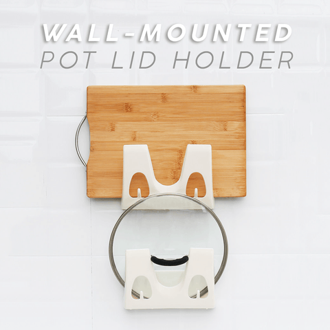 Wall-Mounted Pot Lid Holder