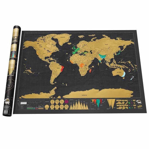 Deluxe Edition Large World Scratch Map
