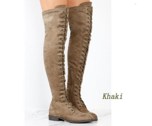 Flat Heal Over The Knee Boots