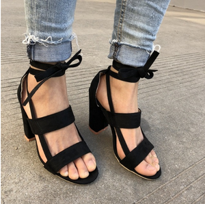 Cross Straps High Heel Shoes