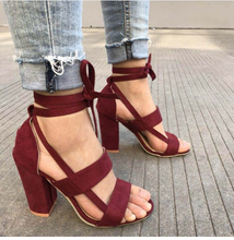 Load image into Gallery viewer, Cross Straps High Heel Shoes