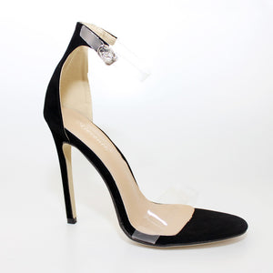 Designer Transparent Peep Toe Stilettos