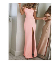 Load image into Gallery viewer, 2020 Strapless Split Long Dress