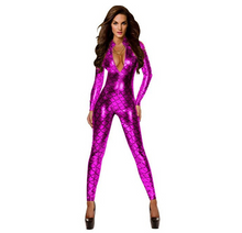 Load image into Gallery viewer, Mermaid Jumpsuit One Piece Playsuit With Zipper & High Neck