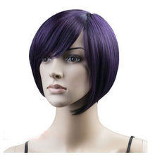 Load image into Gallery viewer, Vogue Brown Straight Short Synthetic Wig