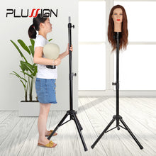 Load image into Gallery viewer, Manikin Head Tripod Hairdressing Training Stand