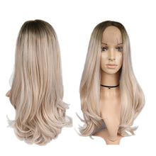 Load image into Gallery viewer, Blonde Rose Pink/Blonde Long Wavy Heat Resistant Synthetic Wig