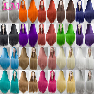 LiangMo Green Purple Black Wig 100CM/40