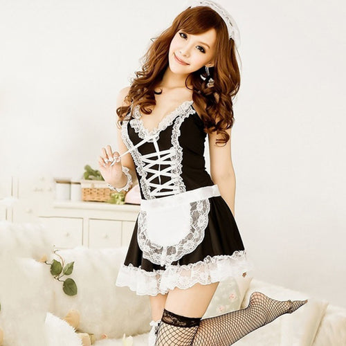 Hot Lace French Maid Costume Set