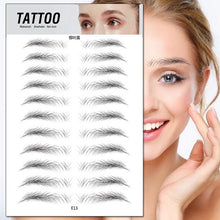 Load image into Gallery viewer, Water Transfer Eyebrow Sticker 7 Day Long Lasting Waterproof Makeup