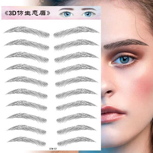 Water Transfer Eyebrow Sticker 7 Day Long Lasting Waterproof Makeup